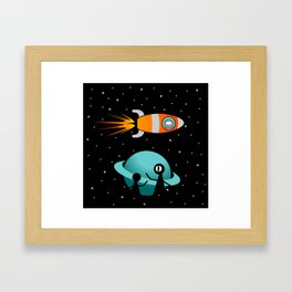 Somewhere in the Galaxy Framed Art Print