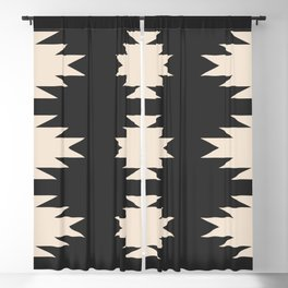 Minimal Southwestern - Charcoal Blackout Curtain