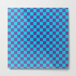 Checkered Pattern III Metal Print
