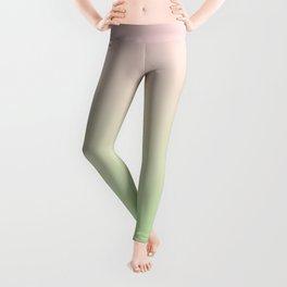 Pastel Ombre Millennial Pink Green Gradient Pattern Leggings