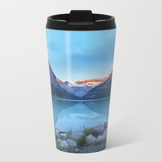 Mountains lake Metal Travel Mug