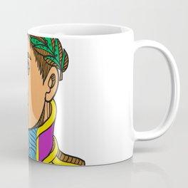 Emperor Napoleon Bonaparte Mono Line Coffee Mug
