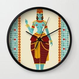 indian blue woman Wall Clock