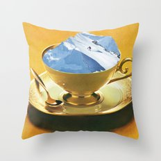 Ski time Throw Pillow