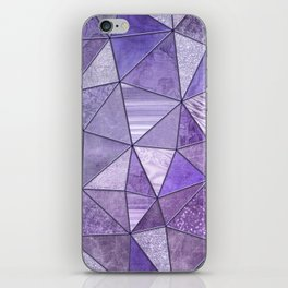 Purple Lilac Glamour Shiny Stained Glass iPhone Skin