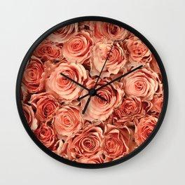 Roses Wall Clock