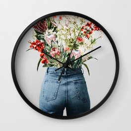 Bottomless Bouquet Wall Clock