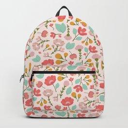 Modern Woodland Floral Backpack