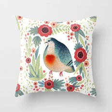 Fruit Dove I Throw Pillow