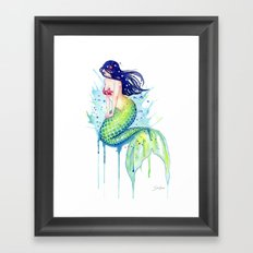 Mermaid Splash Framed Art Print