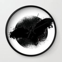 Halloween bat flying Wall Clock