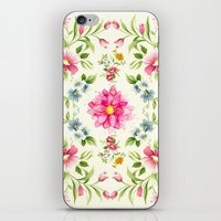 folk iPhone & iPod Skins featuring folk floral by clemm