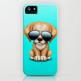 Cute Puppy Dog Wearing Sunglasses iPhone Case