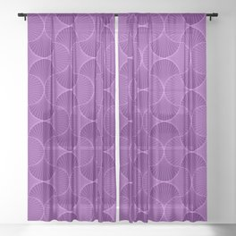 Lilac Abstract Flower Petals Pattern Sheer Curtain
