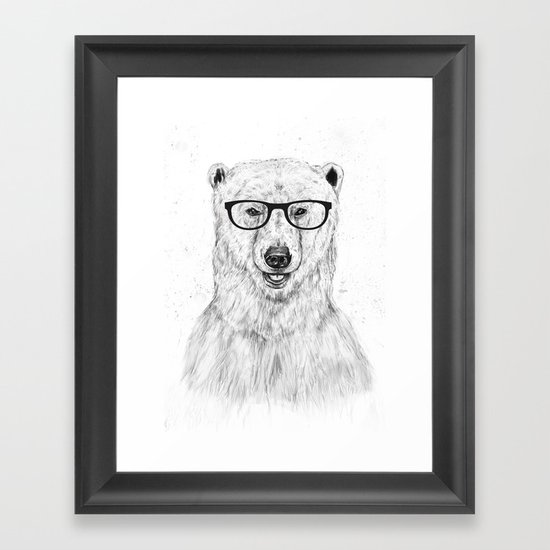 Geek bear Framed Art Print
