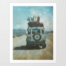 ALPACA WANDERLUST II SUMMER EDITION Art Print