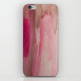 Blush: a pretty and gentle watercolor piece in pinks and browns iPhone Skin