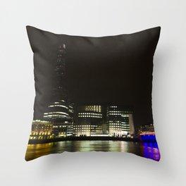 London's South Bank Throw Pillow