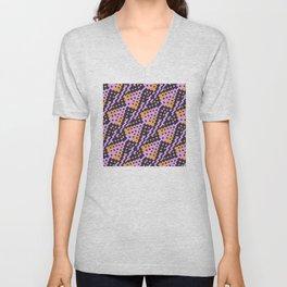 Chocktaw Geometric Square Cutout Pattern - Amazon Flower Unisex V-Neck