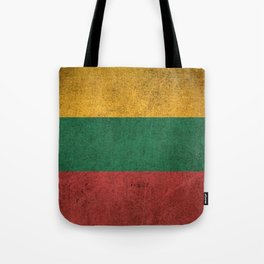 Old and Worn Distressed Vintage Flag of Lithuania Tote Bag