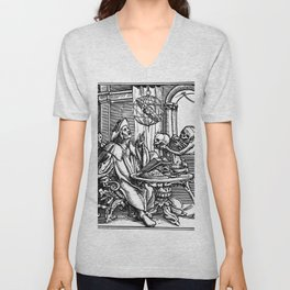 Danse Macabre. XXVII. The Astrologer Unisex V-Neck