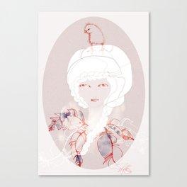Portrait with Chick Canvas Print