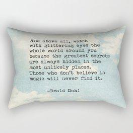 Roald Dahl Glittering Eyes Rectangular Pillow