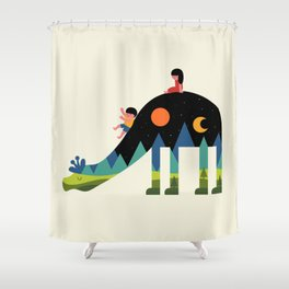 Up And Down Shower Curtain
