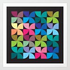 colorful semicircle pattern Art Print