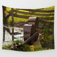bass Wall Tapestries featuring Double Bass by Photography by LutzPeter