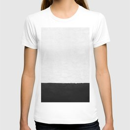 Painted Wall - Black on White T-shirt