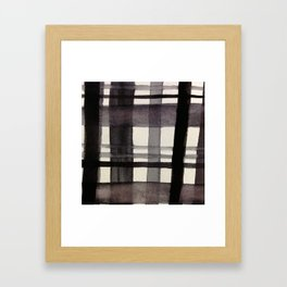Painterly Plaid Framed Art Print