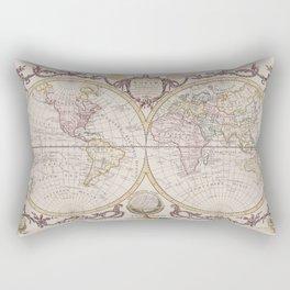 1782 Baldwyn Map of the World Rectangular Pillow