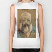 monet Biker Tanks featuring 50 Artists: Claude Monet by Chad Beroth