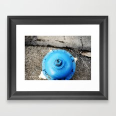 blue is better than red. Framed Art Print