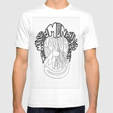 Monkey MEDIUM Mens Fitted Tee White