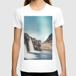 Kirkjufell Mount darkness waterfalls Icelandic landmarks mountains Europe Kirkjufell Iceland T-shirt