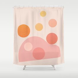 Abstraction_COLOR_DOTS_PLAYFUL_Minimalism_001 Shower Curtain