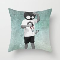 law Throw Pillows featuring LAW by Seamless
