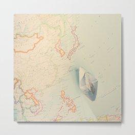 World Map IV Metal Print