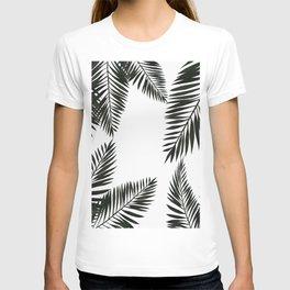 Black Watercolor Tropical Leaves T-shirt