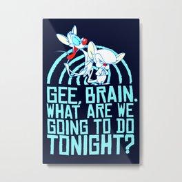 Pinky & The Brain Metal Print