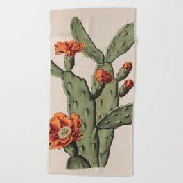 Botanical Cactus Beach Towel