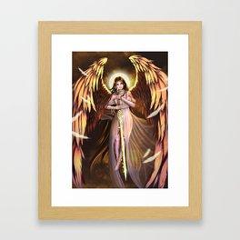 Golden Wings Angel Framed Art Print