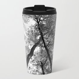 Looking Up in Black and White Metal Travel Mug