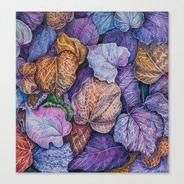 Purple leaves Canvas Print
