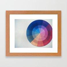 Color Wheel Polaroid Framed Art Print