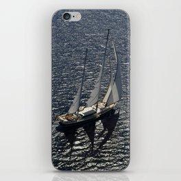 aerial view sailboat iPhone Skin