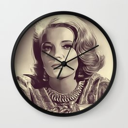 Gena Rowlands, Vintage Actress Wall Clock