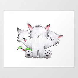 Who Let the Dogs Out Art Print